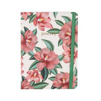 Dusty Pink Blossom Notebook -  pink-green