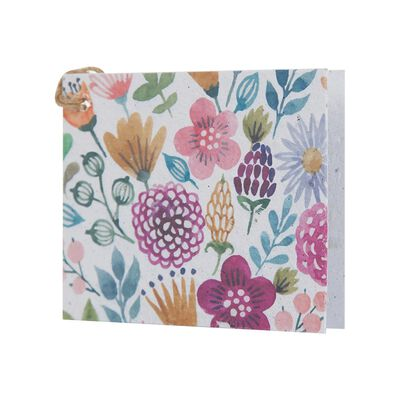 Multi Pinks Floral Growing Paper Tag