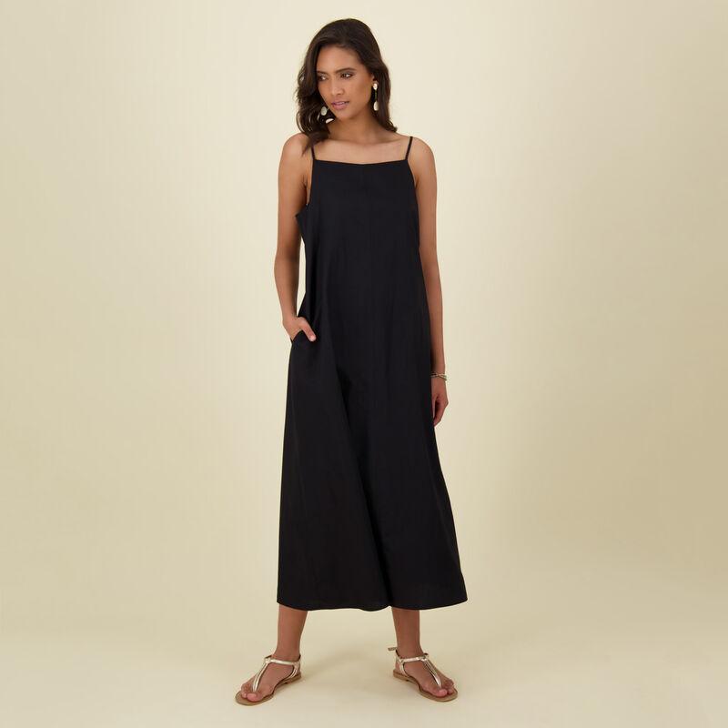 Damaris Plain Dress -  black