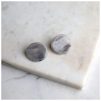 Resin Disc Stud Earrings