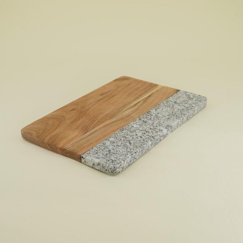 Speckled Marble & Wood Board -  brown-grey