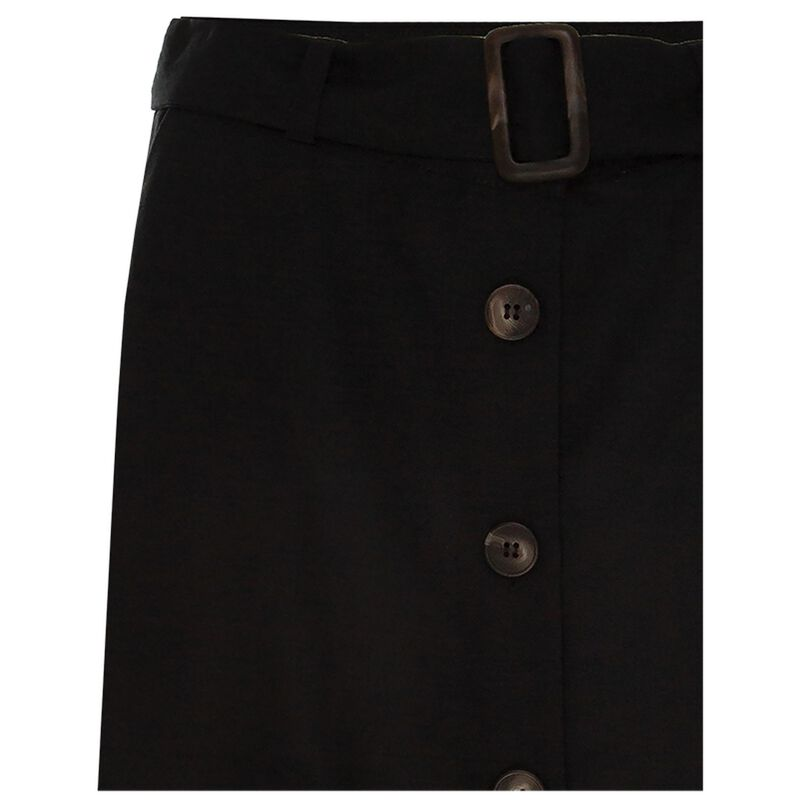 Dixie Linen Skirt -  black