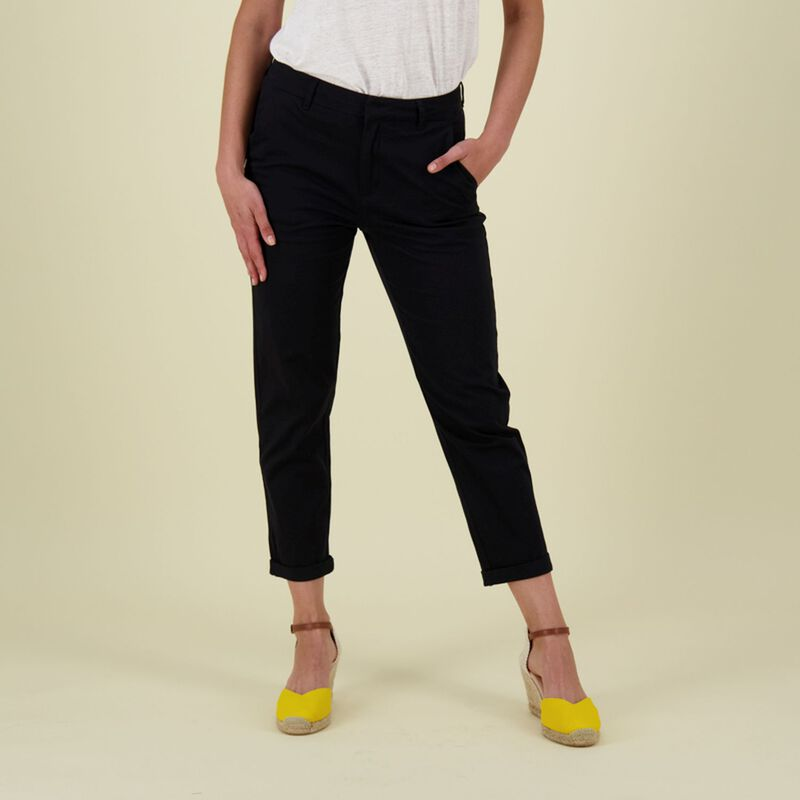 Cora Structured Pants -  black