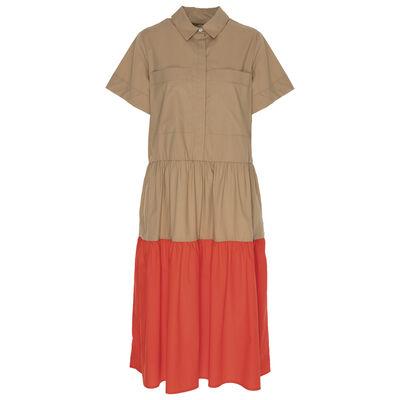 Lacy Colourblock Shirt Dress