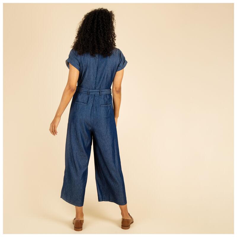 Mika Denim Jumpsuit -  blue