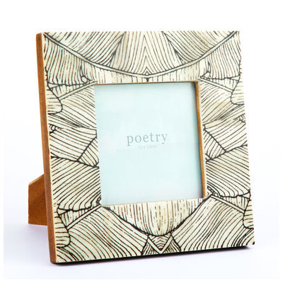 Leaf Printed Bone Frame