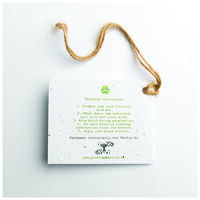 Growing Paper Blossom Tag -  assorted