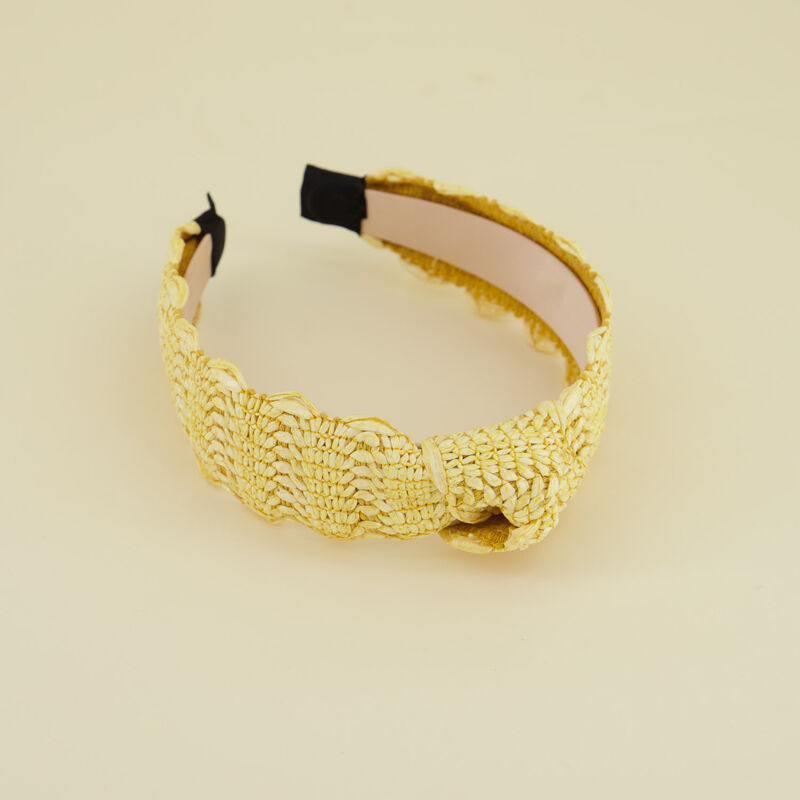 Riona Straw Textured Alice Band -  c88