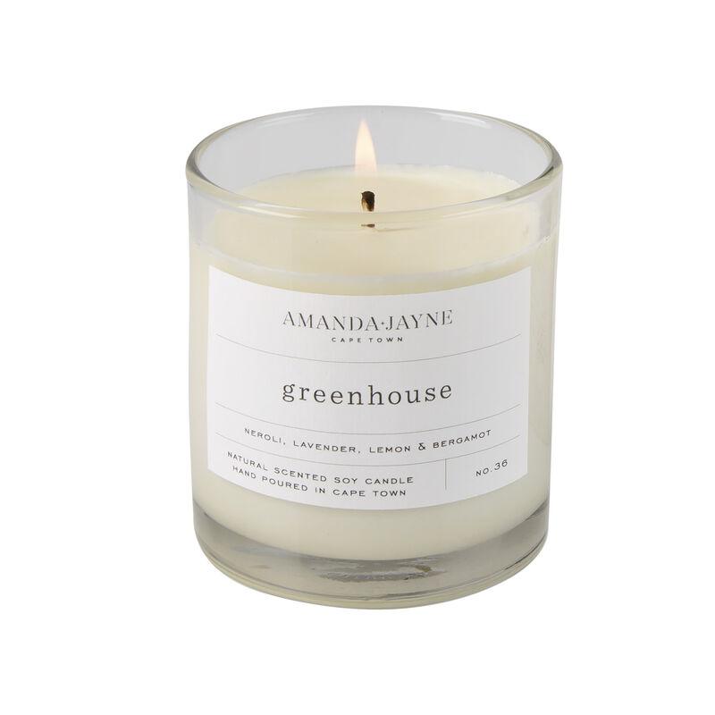 Amanda Jayne Greenhouse Candle in Glass -  white-black