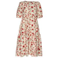 Winslow Floral Tiered Dress -  coral