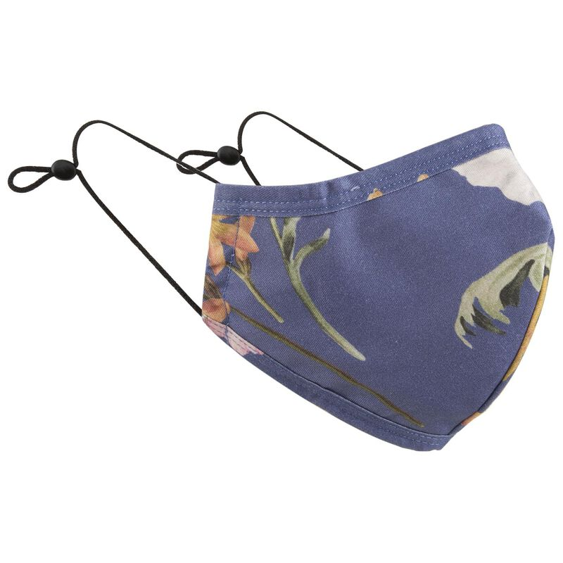 2-Pack Poppy Fabric Face Masks -  assorted-navy