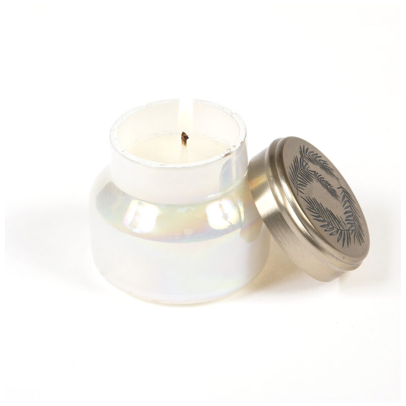 Candle in Pearlized Jar -  milk-gold