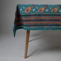 Teal & Rust Tablecloth -  teal-rust