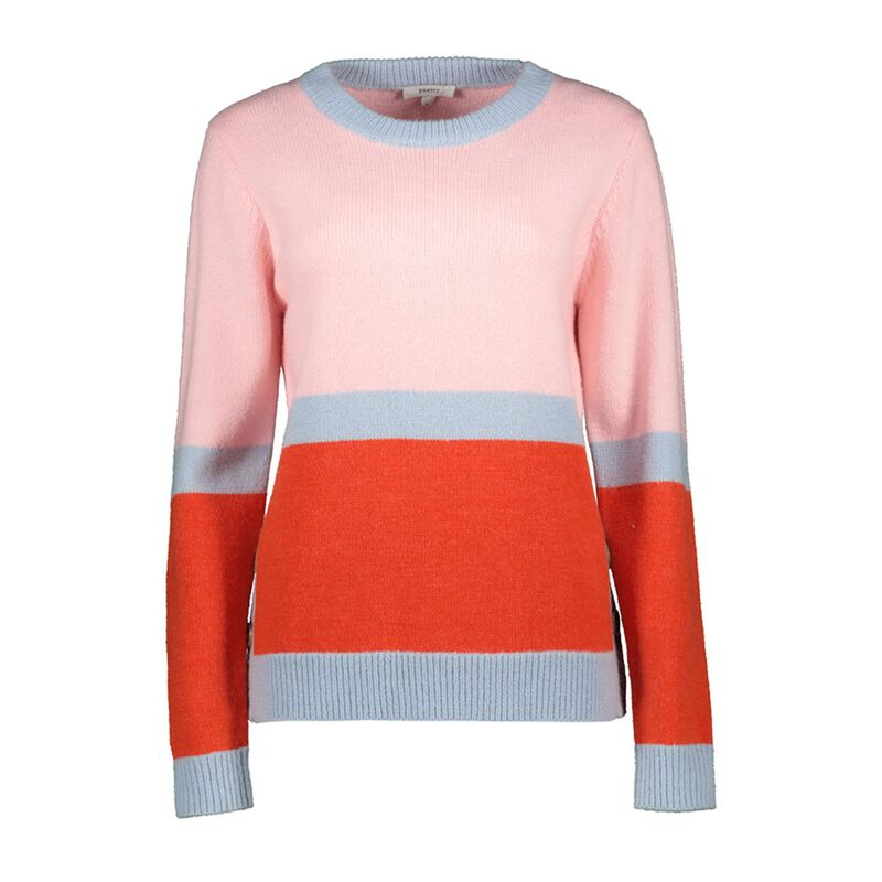 Donatella Colourblock Jumper -  coral