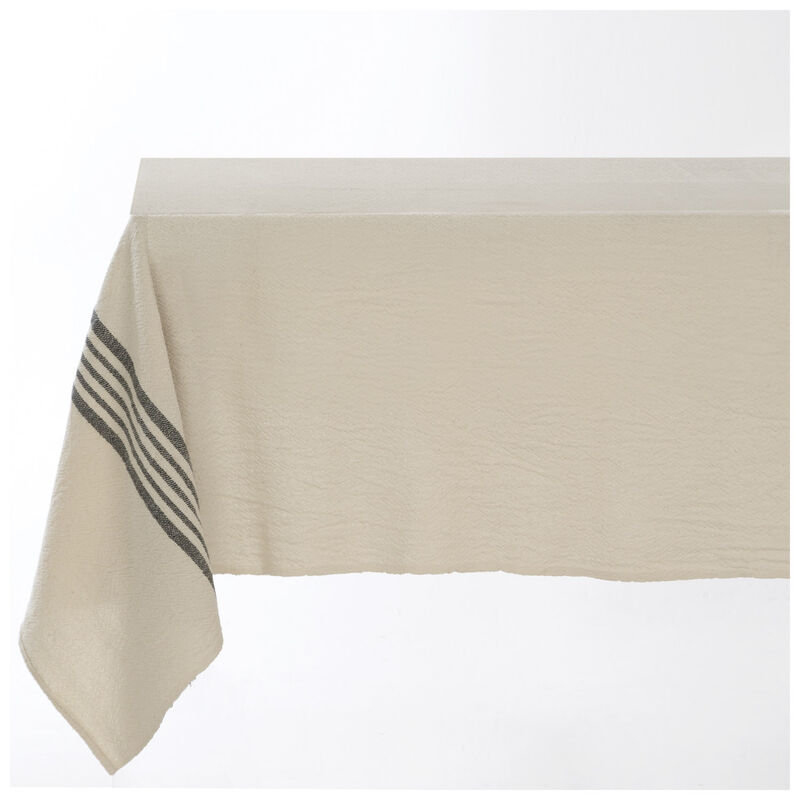 Barrydale French Country Charcoal Tablecloth -  stone-charcoal