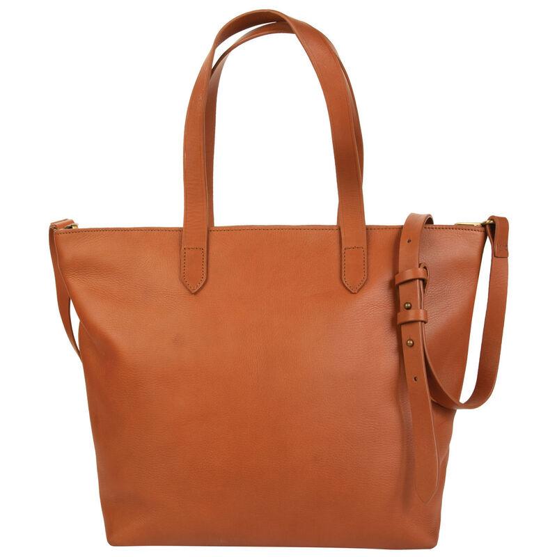 Adaline Leather Shopper Bag -  tan