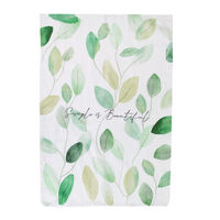 Simple is Beautiful Tea Towel -  green-white