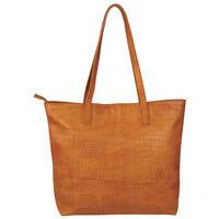 Nathaly Leather Tote Bag -  tan