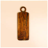 Acacia Board with Ring Handle -  brown