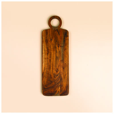 Acacia Board with Ring Handle