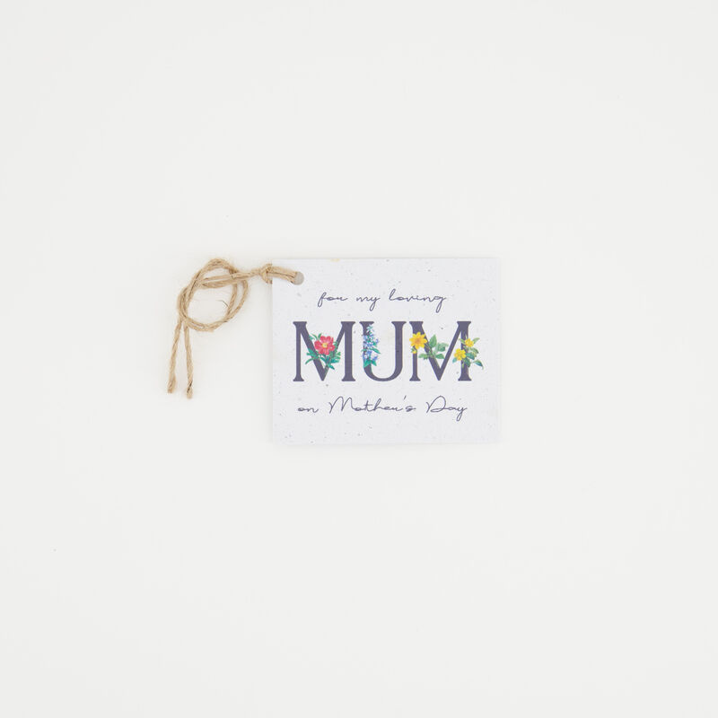 Growing Paper Mum Tag -  c99