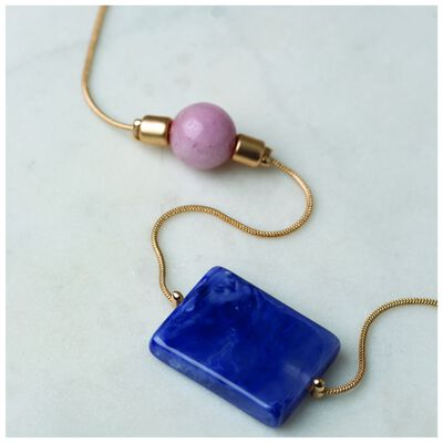 Asymetrical Resin Satellite Necklace