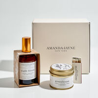 Amanda Jayne Night Bloom Gold Tin & Home Fragrance Set -  c99