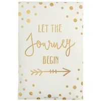 Let The Journey Begin Sachet -  pink-gold