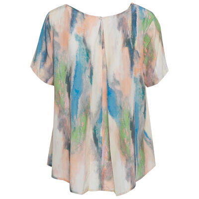 Carin Geo Pop Over Blouse