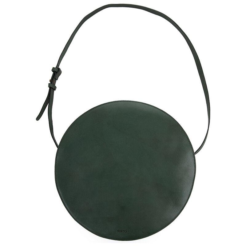 Brook Round Leather Bag -  darkgreen