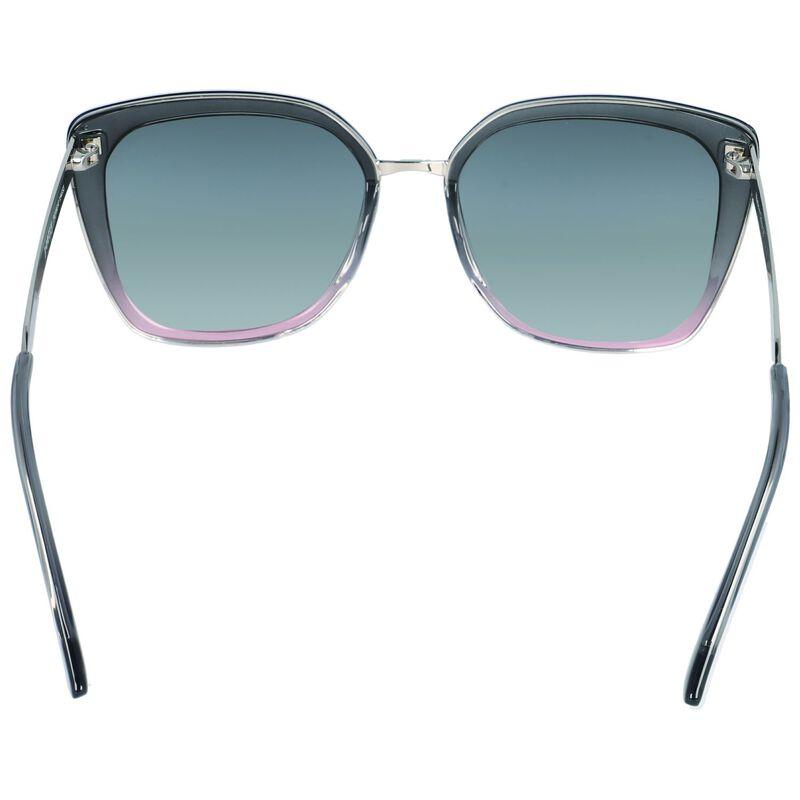 Modern Metal Inset Ombre Sunglasses -  purple-gold