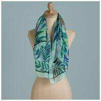 Poetry Birgit Floral Silk Scarf -  blue-assorted