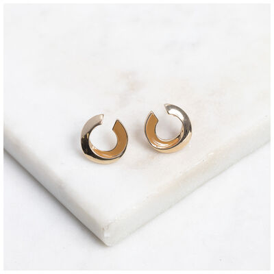 Epoxy Twist Stud Earrings