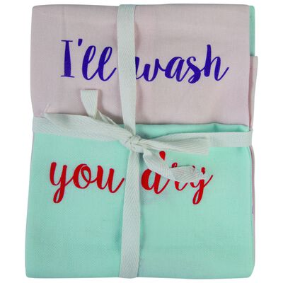 I'll wash You Dry Tea Towel Two-Pack