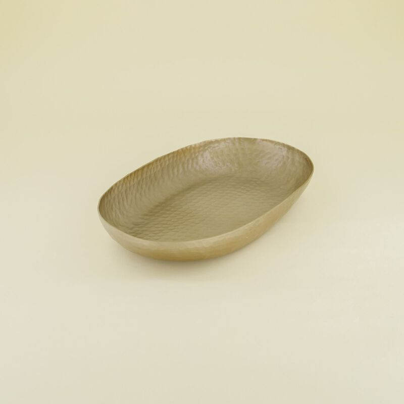 Hammered Small Metal Bowl  -  gold