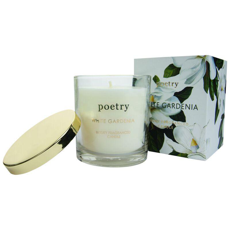 White Gardenia Boxed Candle -  white