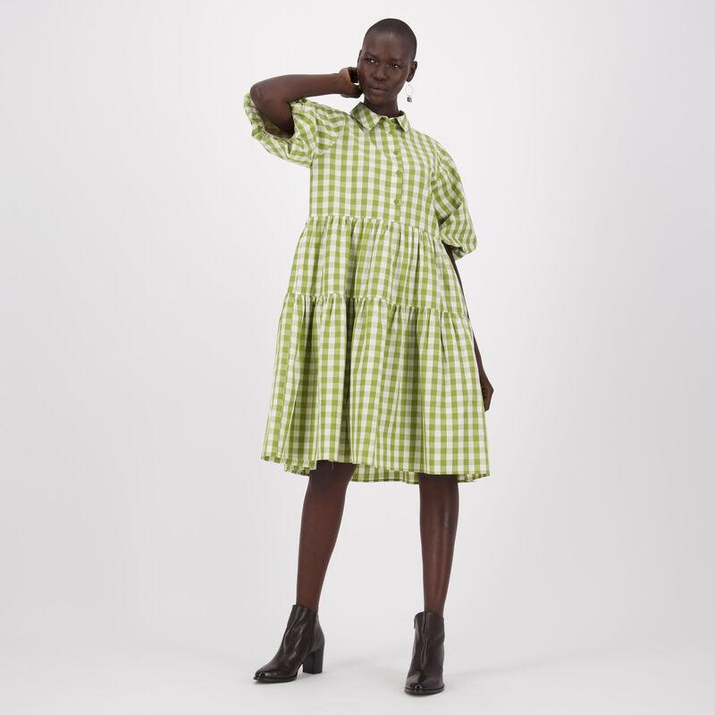 Tasha Check Dress -  c69