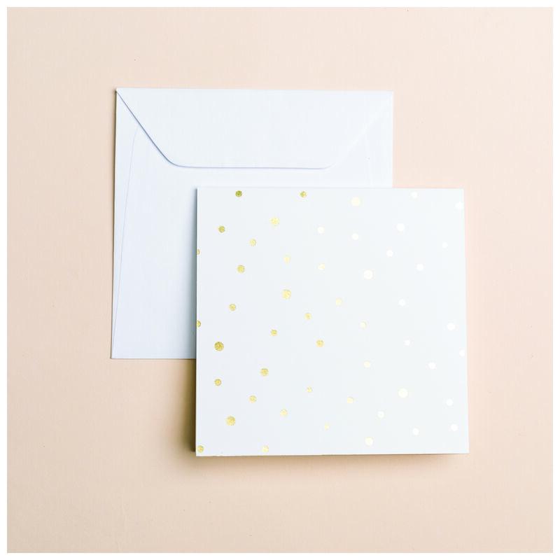 Gold Dot Card -  white-gold