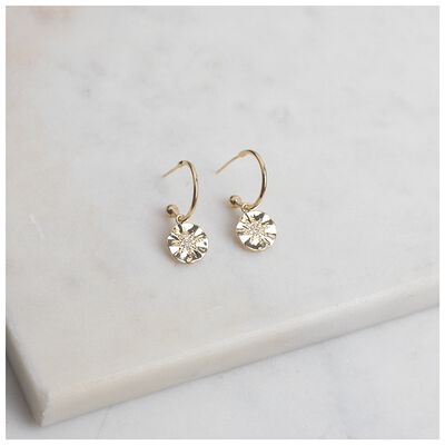 Star Disc-Drop Earrings