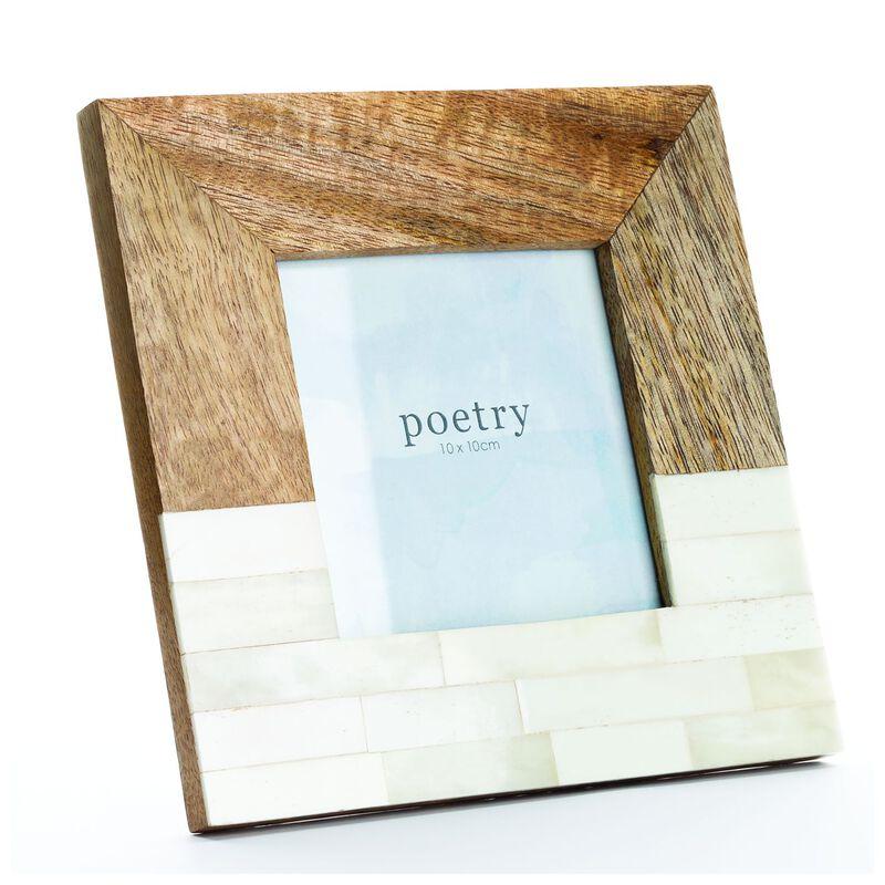 Wood and Bone Split Frame -  brown-white