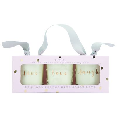 Love Votive Candle Set
