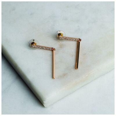 Pave Bar Drop Earrings