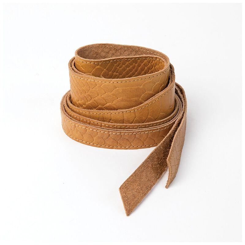 Tammy Snakeskin Waist Tie Belt -  ochre