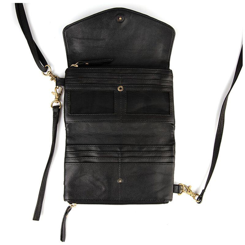 Billie Cross Body Leather Bag -  black-black