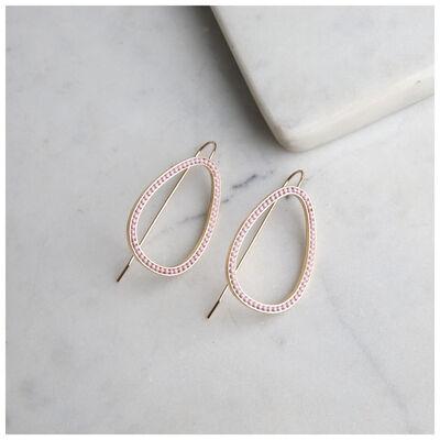 Geometric Drop Chain Earrings