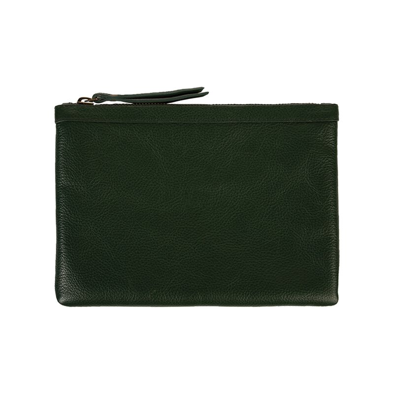 Taylor Leather Pouch -  olive