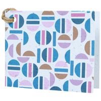Growing Paper Round Abstract Tag -  blue-assorted
