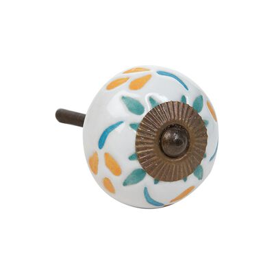 Tri-colour Leaf Etched Knob