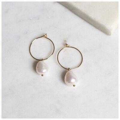 Freshwater Pearl Mini Hoop Earrings