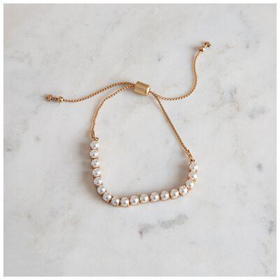 Glass Pearl Adjustable Bracelet